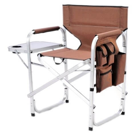 5. Stylish Camping Full Back Folding Director's Chair