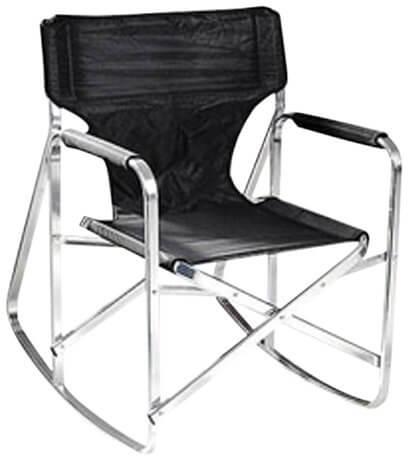 6. Full Back Folding Director's Chair for Bad Back