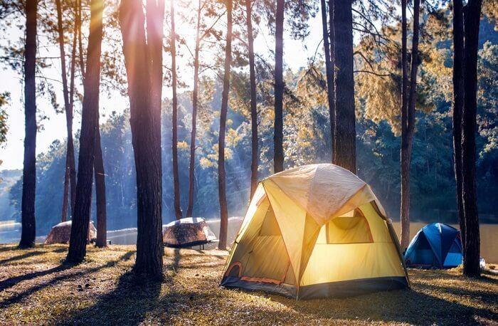 Outside Tent