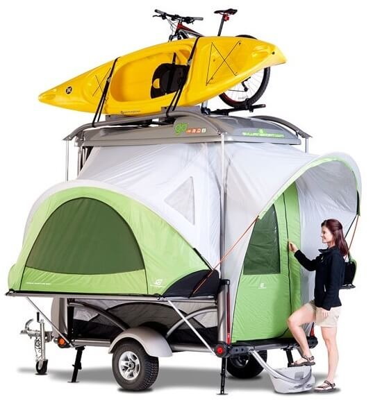 Small size pop up campers weigh