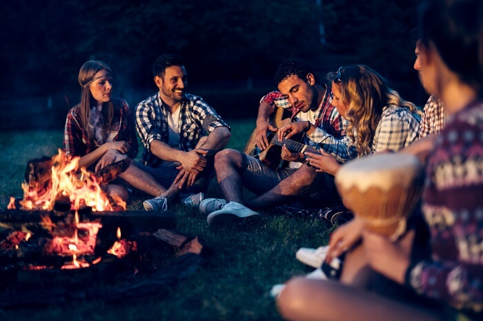 campfire night with friends